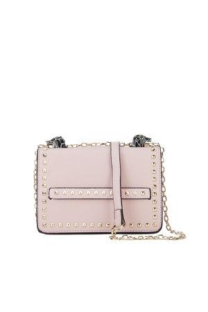 LILA Pink Snake Chain Shoulder Bag