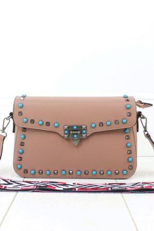 ABIGAIL Pink Stud Cross Body bag