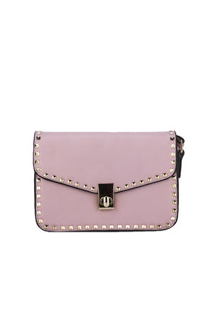 MARCELLA Pink Stud Detail Handbag