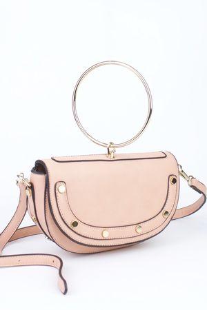 LOLITA Pink Half Moon Bag