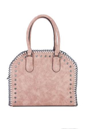 SARA Pink Stud Shopper Bag