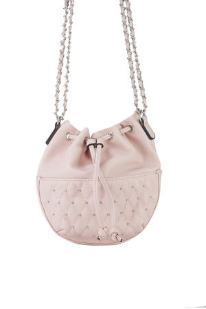 RHEA Pink Stud Bucket Bag