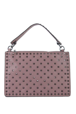 VIOLET Pink Stud Handbag