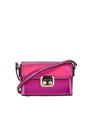 Pink Shoulder Bag With Pearl Detail