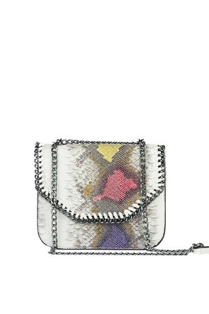 STELLA Purple Black Python Chain Shoulder Bag
