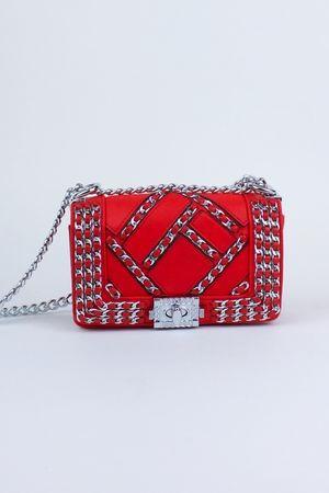 MILA Red Chain Mini Bag