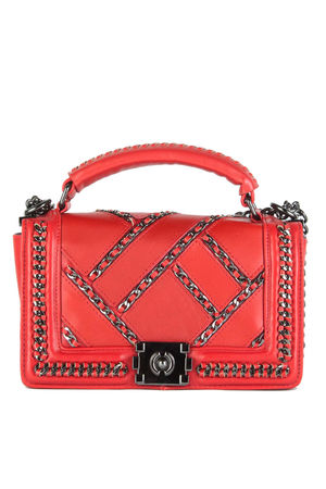 ALLY Red Chain Cross Body Shoulder Bag