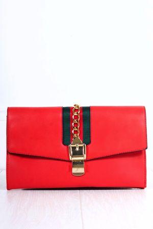CARA Red Clutch Bag