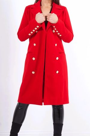 VIENNA Red Double Breasted Coat