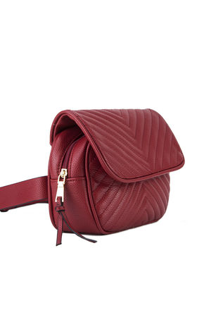 JESSICA Red Quilted Belt Bag