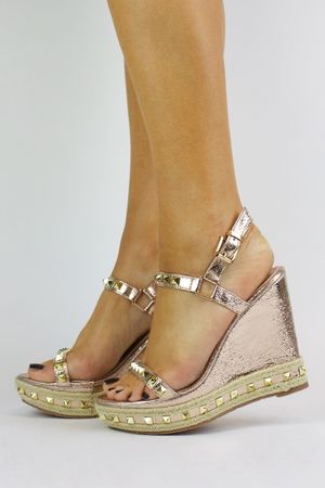 STELLA Rose Gold Stud Wedge