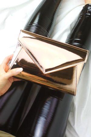 MISSY Rose Gold Envelope Clutch Bag