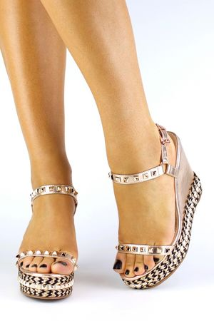 MELODY Rose Gold Stud Wedge