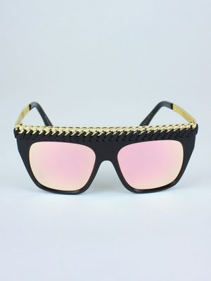 VEGAS Rose Gold Chain Sunglasses