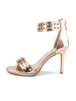 ALEXA Rose Gold Stud Heels