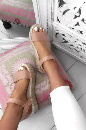 SERA Pink Espadrille Flatforms