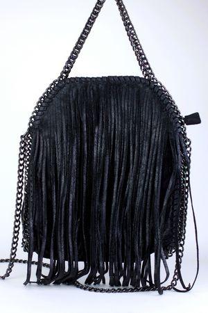 SIENNA Black Fringe Bag