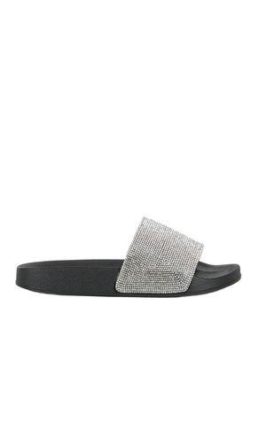 ELLIE Silver Diamante Sliders