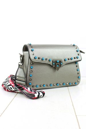 ABIGAIL Silver Stud Cross Body Bag