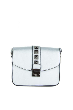 LUCHIA Silver Stud Cross Body Shoulder Bag