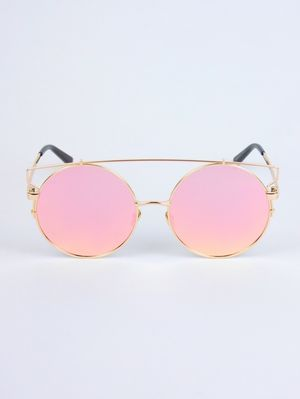 ST BARTS Rose Gold Retro Sunglasses
