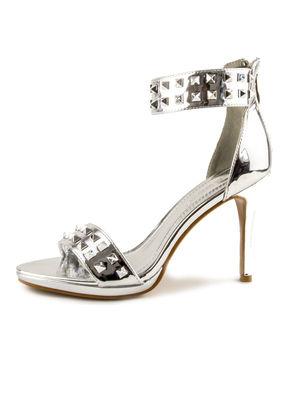 ALEXA Silver Stud Heels