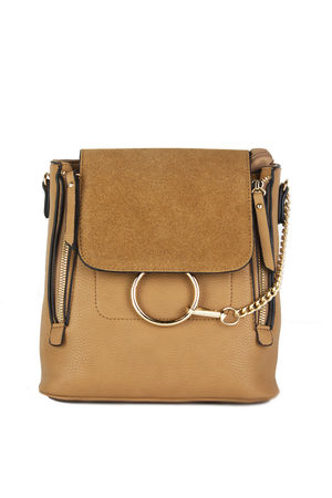 LEXI Camel Chain Backpack