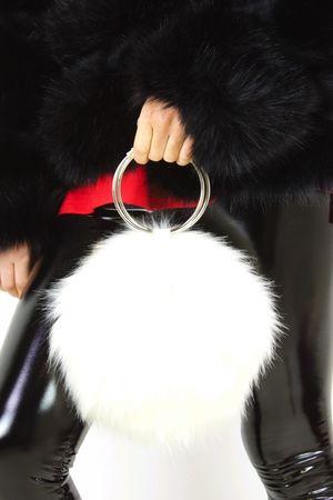 MOLLY White Faux Fur Bag