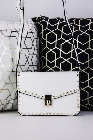 MARCELLA White Stud Detail Handbag