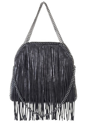 AVA Black Fringe Bag