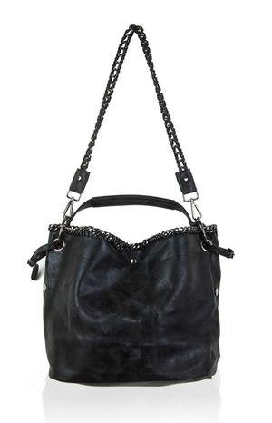 MAYA Black Shimmer Tote Bag