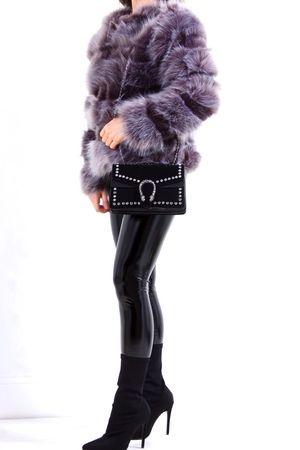 POLLY Grey Faux Fur Jacket