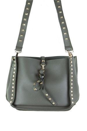 JESS Grey Stud Slouch Shopper Bag