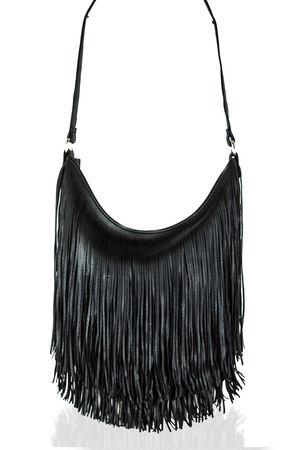 TONI Black Fringe Bag