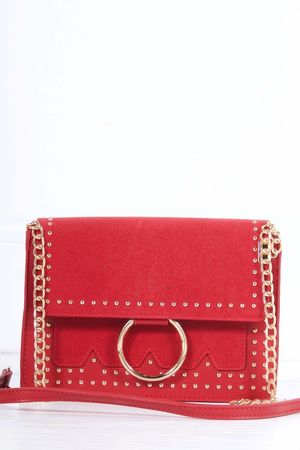 KATE Red Stud Cross Body Bag