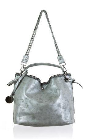 MAYA Metallic Grey Tote Bag