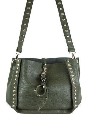 JESS Green Stud Slouch Shopper Bag