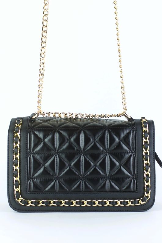 BLAKE Black Quilted Chain Bag : black quilted chain bag - Adamdwight.com