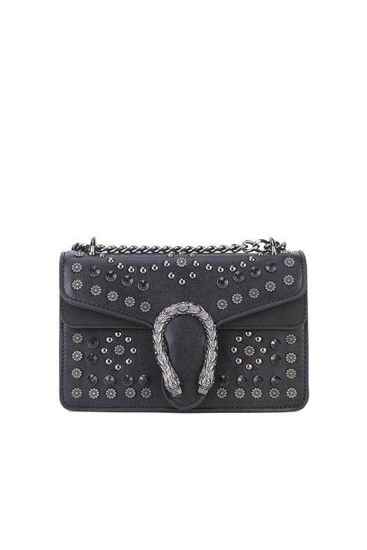 OLIVE Black Hardwear Shoulder Bag
