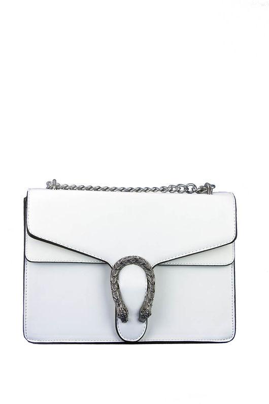 AVERY White Statement Shoulder Bag