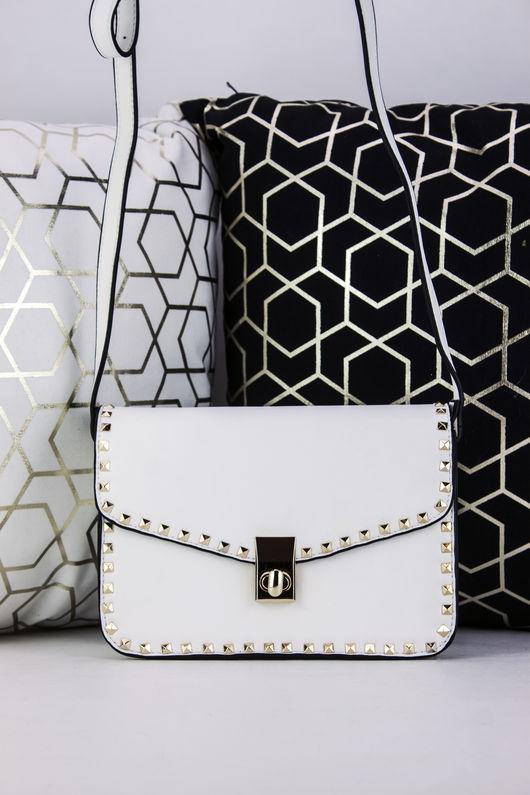 MARCELLA White Stud Detail Handbag