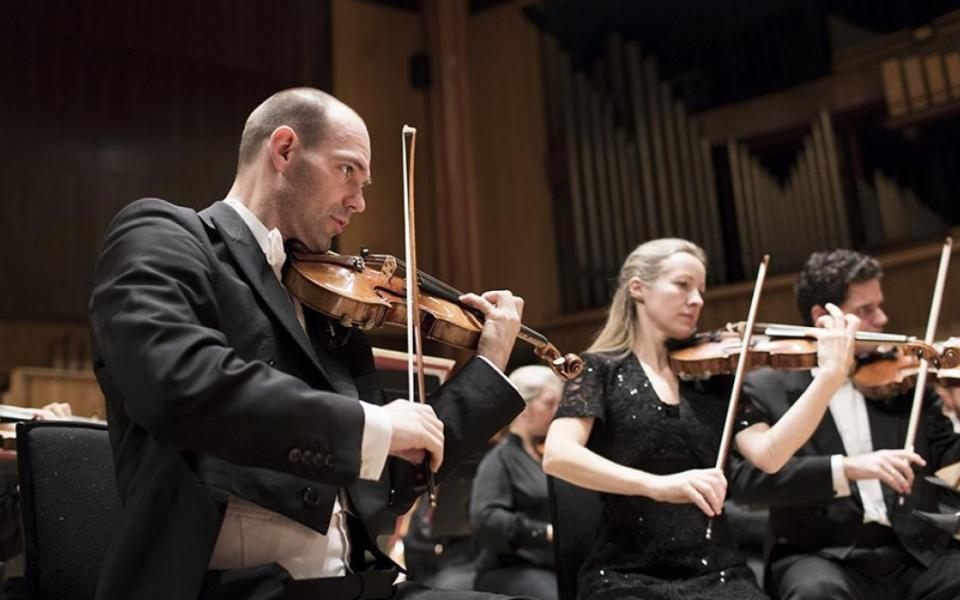 Zsolt-Tihamér Visontay leading the Orchestra
