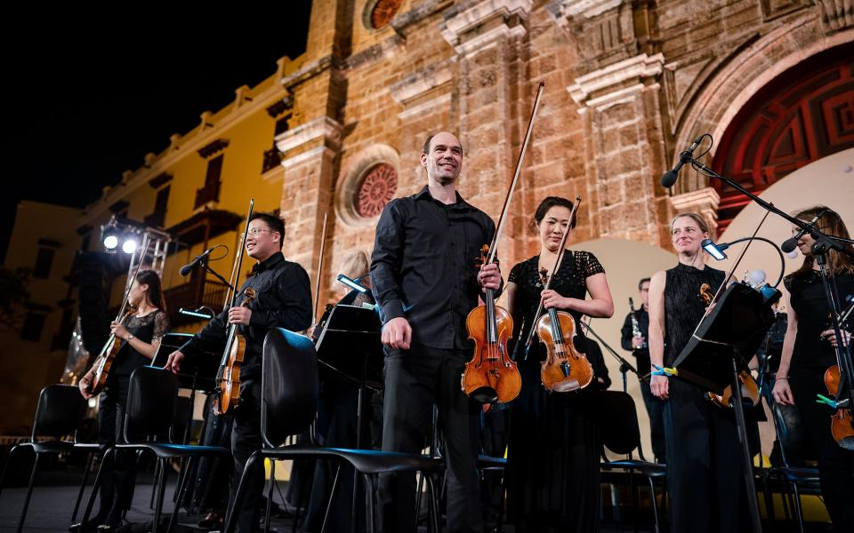 Philharmonia on stage at Caragena International Festival