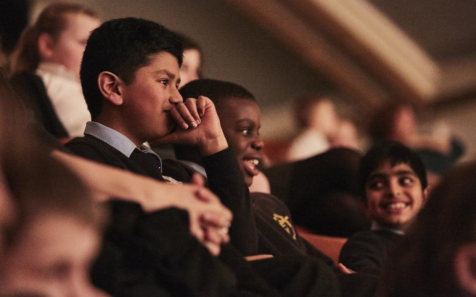 School children at Orchestra Unwrapped