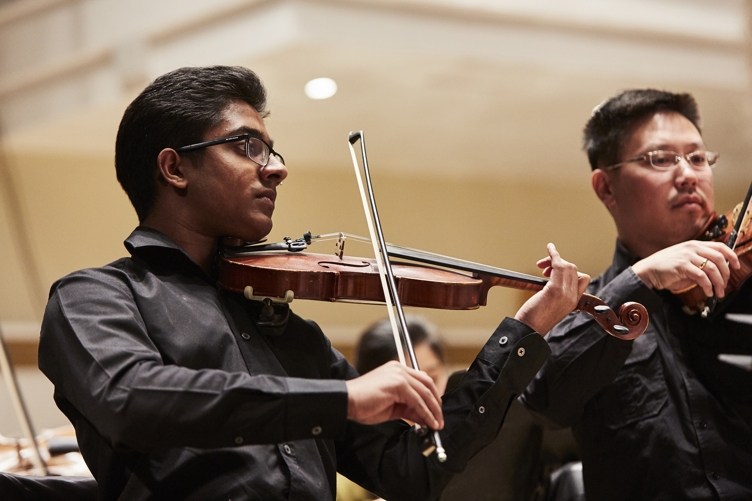 Young players performing alongside the Philharmonia