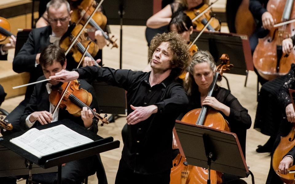 Conductor Santtu-Matias Rouvali on stage