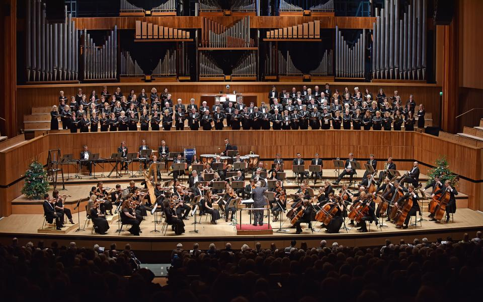 Philharmonia Orchestra on stage