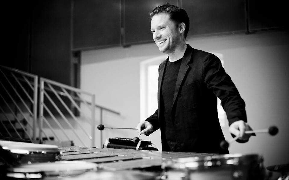 A photo of percussionist Colin Currie