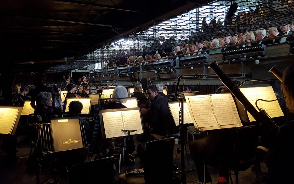 Photo from the pit of Garsington Opera
