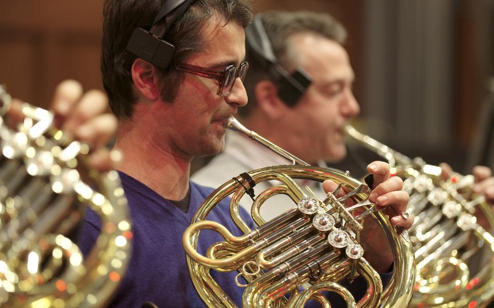 Horn player Carsten Williams at Air Studios